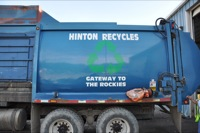 """Hinton Recycles"" truck"